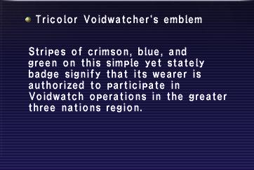 Tricolor voidwatch emblem