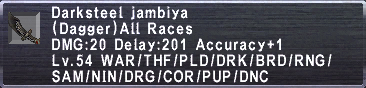 Darksteel Jambiya