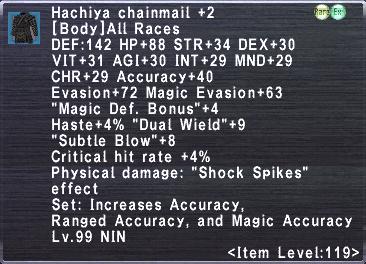 Hachiya Chainmail +2