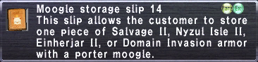 Moogle storage slip 14
