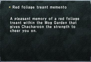 Red foliage treant memento