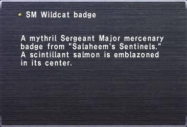 SM Wildcat badge