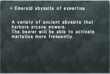 Emerald Abyssite of Expertise