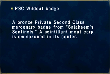 Key item psc wildcat badge