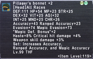 Pillager's Bonnet +2