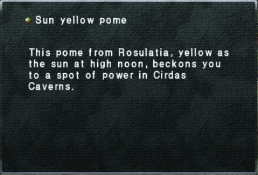 Sun Yellow Pome