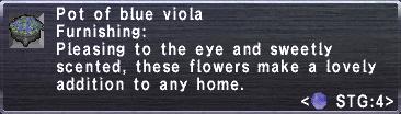 Blue Viola Pot