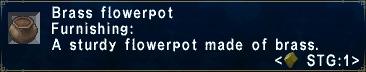 Brass-Flowerpot