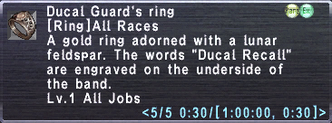 Ducal Guard's Ring