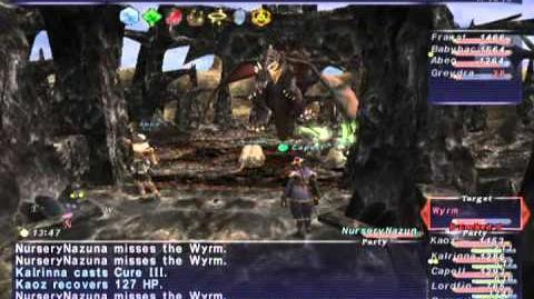 FFXI NM Saga 332 Wyrm BCNM Full Battle