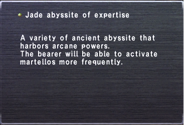 Jade abyssite of expertise