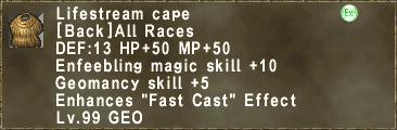 Lifestream cape