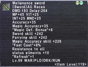 Malignance Sword