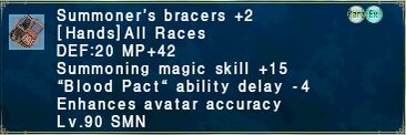 Summoner's Bracers +2