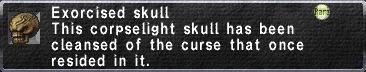 Exorcised Skull