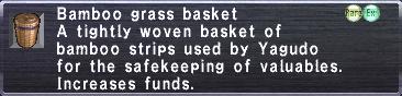 Bamboo Grass Basket
