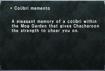 Colibri memento