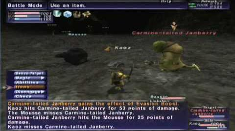 FFXI NM Saga 108 Carmine-tailed Janberry vs BST solo Full battle