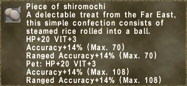 Piece of shiromochi