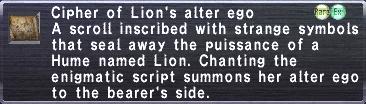 Cipher Lion