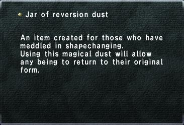 Jar of Reversion Dust