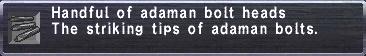 Adaman Bolt Heads