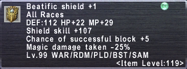 Beatific Shield +1
