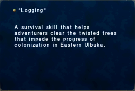 Logging Key Item