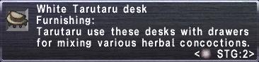 White Tarutaru Desk Stats
