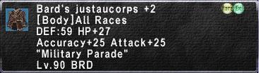 Bard's Justaucorps +2