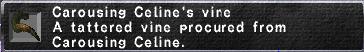 Carousing Celine's vine