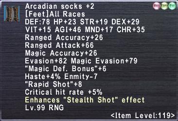 Arcadian socks +2