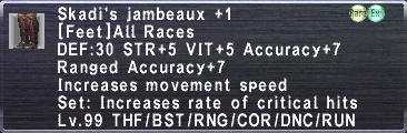 Skadi's Jambeaux +1