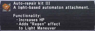 Auto-Repair Kit III