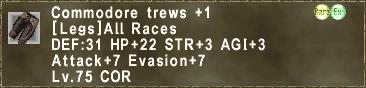 Commodore trews +1