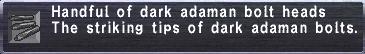 Dark adaman bolt heads