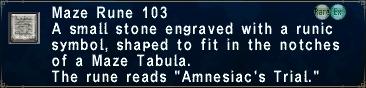 Maze Rune 103