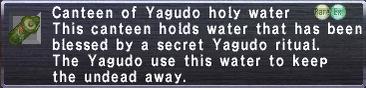 Yagudo holy water