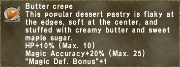 Butter crepe