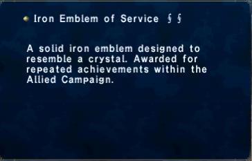Iron Emblem of Service