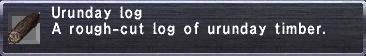 Urunday Log description