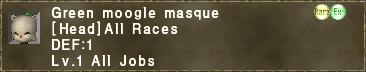 Green moogle masque