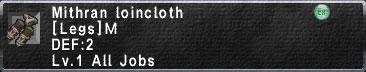 Mithran loincloth