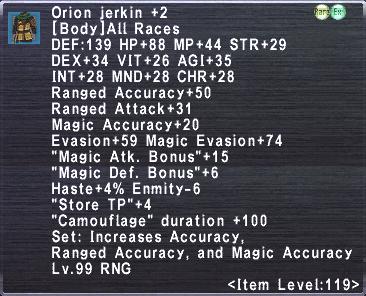 Orion Jerkin +2