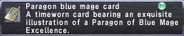 Paragon Blue Mage Card