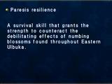 Paresis resilience