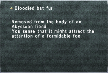 Bloodied Bat Fur