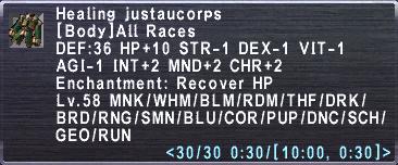 Healing Justaucorps