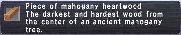 Mahogany Heartwood