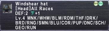 Windshear hat